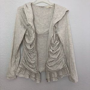 Anthropologie Pure + Good zip up oatmeal jacket